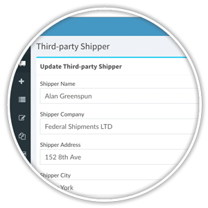 update third-party shipper profile and settings