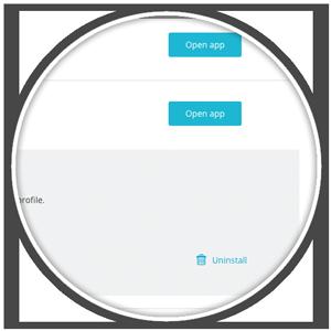 Uninstall Ecwid app