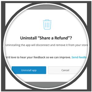 Uninstall Ecwid app confirmation