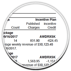 UPS invoice incentives