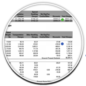 FedEx Service Type Summary Discount page